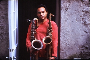 Jay with his Bari and Tenor photo by Teruo Nakamura